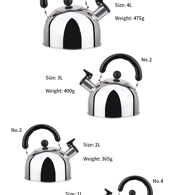 High Quality Stainless Steel Flat Bottom Tea Pot Whistling Kettle