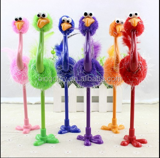 Customised toys,ostrich shape pen plush toys plush birds/flying animals