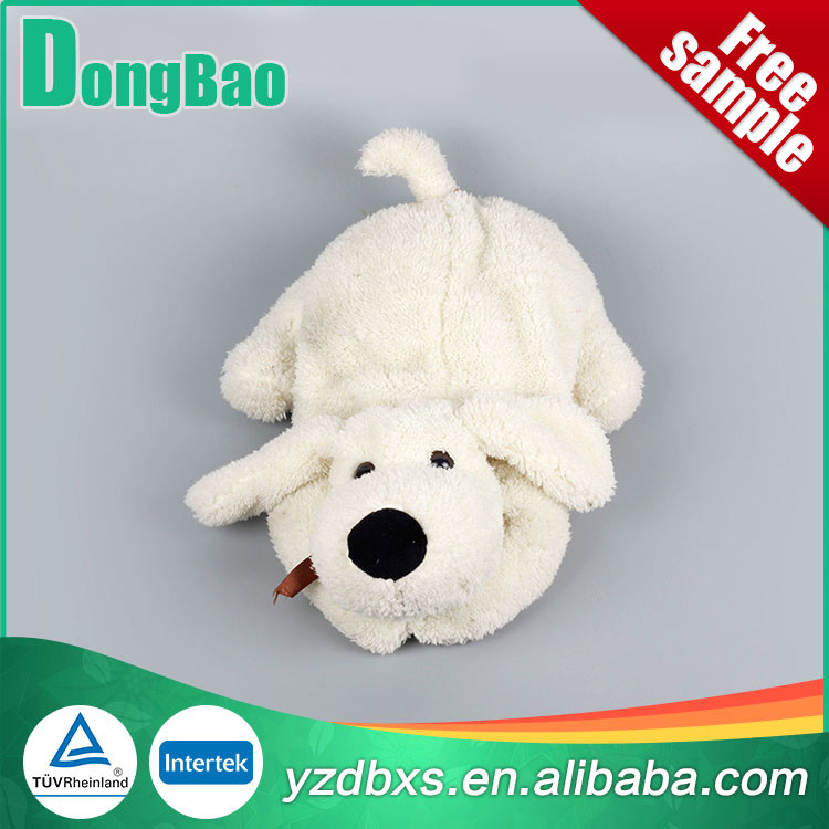 good quality hot water bottle with white dog cover
