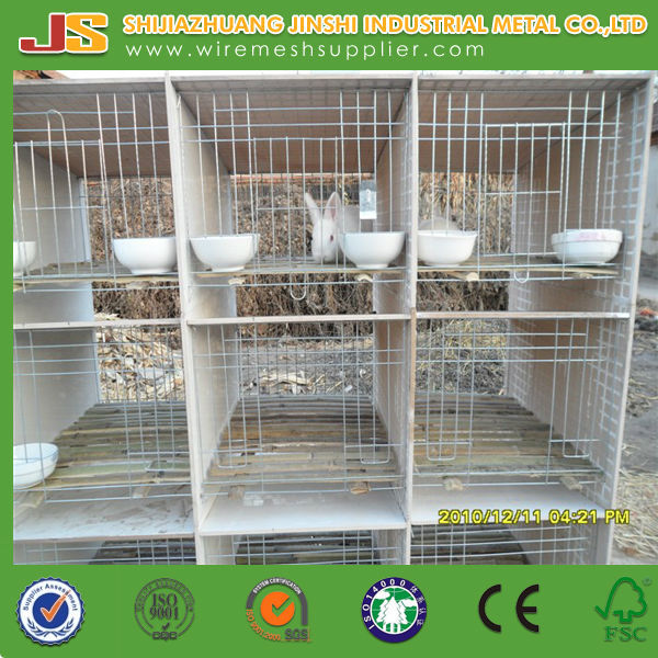 galvanized rabbit cage(factory)/indoor rabbit cage made in china on alibaba