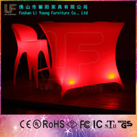 Fashionable Beautiful Colorful Commercial Furniture Used Nightclub , Modern Battery Power Remote Control Glowing LED Bar Tables