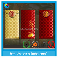 High quality red money packet cardboard envelope