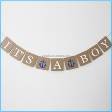 Gender Reveal Party /Baby Shower Decorations Baby Announcement Bunting Banner