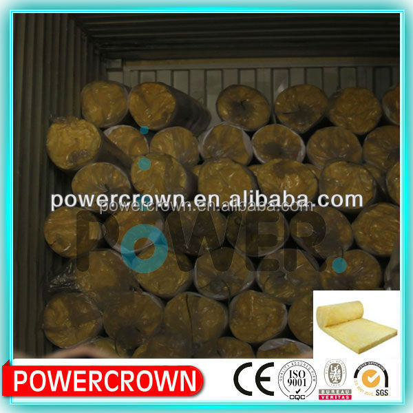 High quality vacuum glass wool blanket thermal insulation/ thermal insulation glass wool pipe insulation/ glass mineral wool
