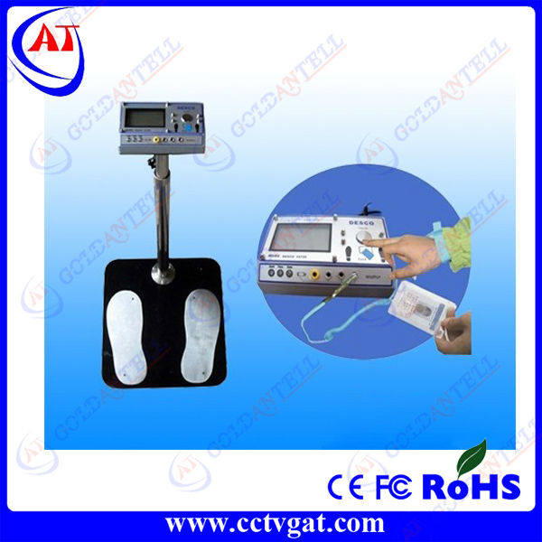 LCD Display ESD Tester For Wrist and Foot Strap Connect With Turnstile
