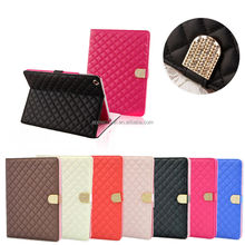 Luxury Check Design Case For iPad4/3/2 , for ipad leather cover case