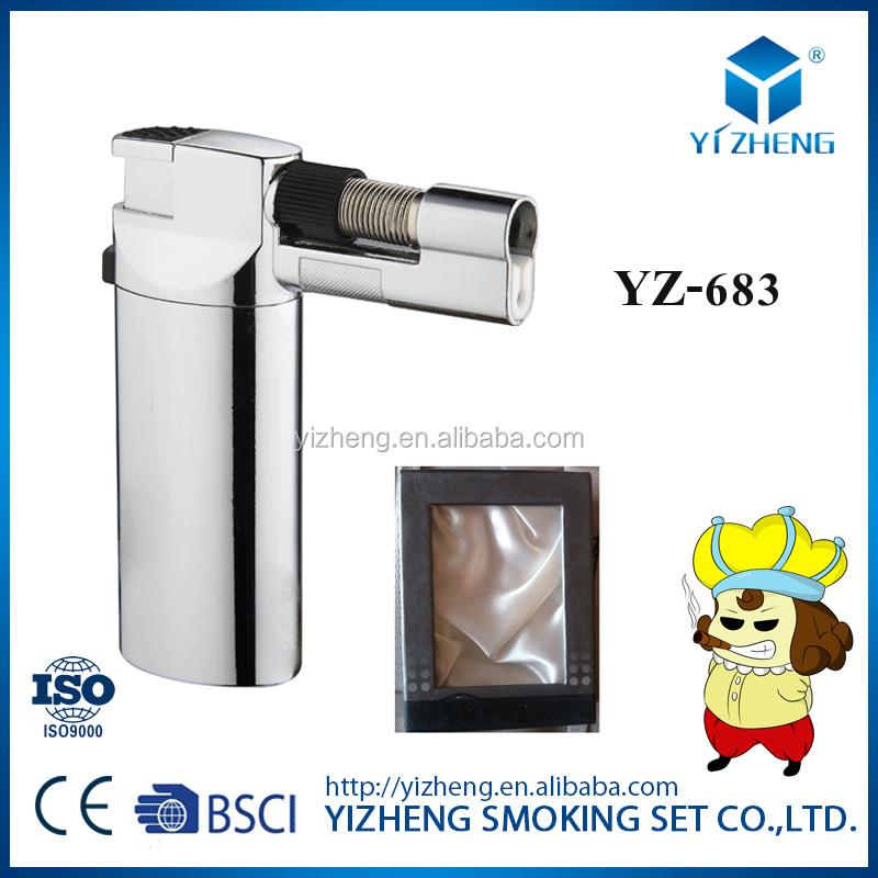 Portable brazing soldering adjustable Classic Cigarette Cigar Lighter Butane Gas torch Flame jet welding torch lighter YZ-683