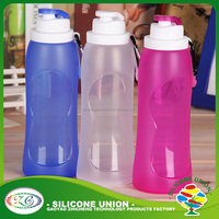 Fashion personalize non-toxic collapsible food grade silicone water bottle