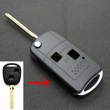 Blank New 2 Buttons 3 Buttons Modified Remote Car Key Shell for TOYOTA CAMRY 2.4 PRADO LAND CRUISER Key With Logo