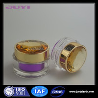 diamond cap luxury acrylic cosmetic jar empty cosmetic container for cosmetics