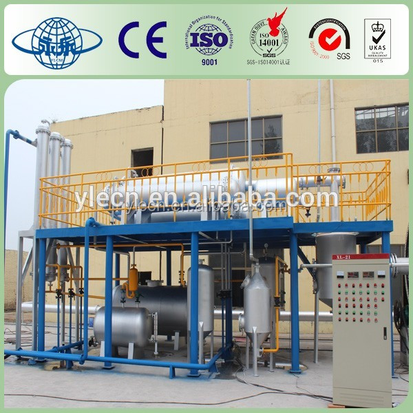 Char from waste rubber machine