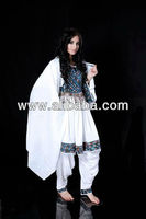 new style kuchi dress with with ethnic embroidery