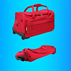 Foldable outdoor Sports Gym Weekender roller travel Bag, folding Flight wheeled Holdall Bag, collapsible Trolley Duffle kit bag
