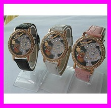 2015 New fashion korea style leather mini miniature watch for wholesale HD2265