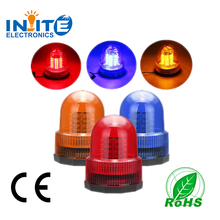 12v 24v Rotating amber traffic Safety warning flashing light Tractor compact Magnetic LED beacon