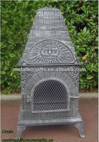 Cast Iron Chiminea with Pizza Oven