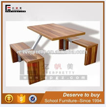 Rectangular table benches factory price, knock down dining table chairs, dubai dining tables and chairs
