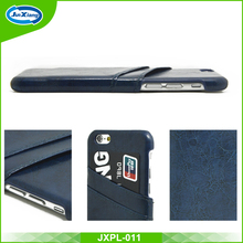 Hot selling PU Leather Back Cover Case For Iphone 6 Flip Case With Credit Card