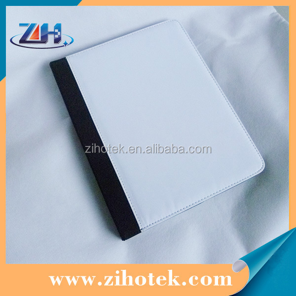 Sublimation printing high quality 2D sublimation leather flip cover case for iPad 5