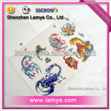 Water transfer body custom temporary tattoo