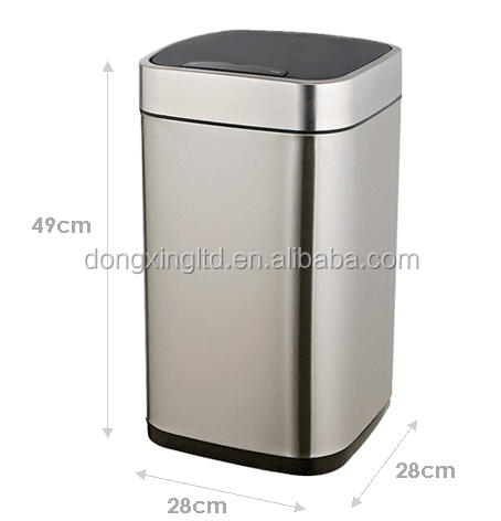 Square Recycle Infrared Sensor Dustbin Automatic Garbage Bin Touchless
