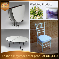 dining room furniture banquet foldable PVC round tables
