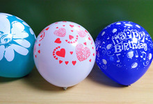 Sample free natural latex inflatable custom printed balloon with EN71 certification