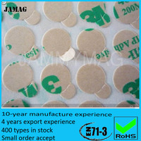 new design super strong ndfeb adhesive backed magnets D12*2mm for sale