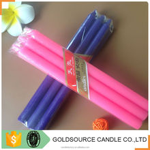 Fancy colorful candle christmas pillar candles