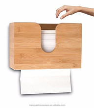 Modern bathroom wall mounted bamboo toilet tissue holder