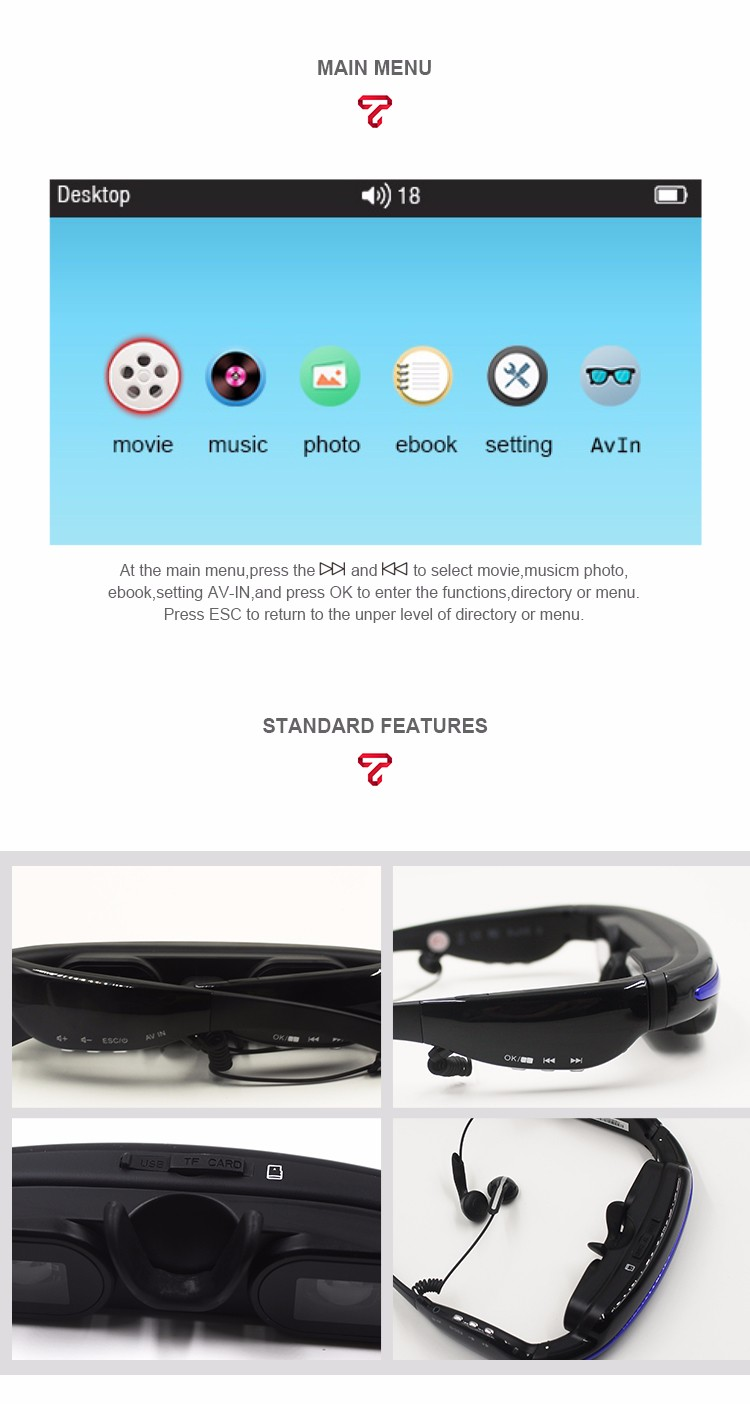 wearable video glasses sunglasses