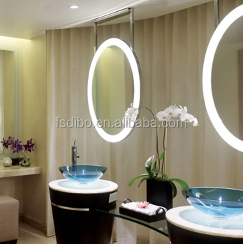 5000K White Round Bathroom Mirror with LED Light