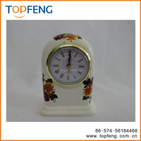 Vintage Table clock/Porcelain Table Clock