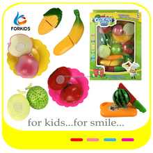High quality cutting food plastic toys,cuttable kids play food toys,kitchen toy set