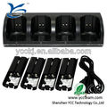 Game remote controller charger for wii with 4pcs batteries for wii 4 in 1 charger have two colors