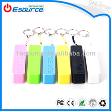 Portable White Perfume Universal USB Port External Battery Charger with Key Ring