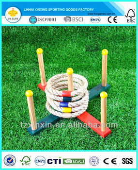 Wooden ring toss game for kids outdoor games
