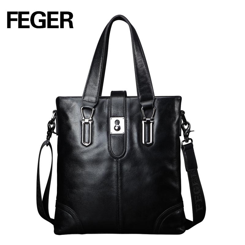 FEGER leather office men's executive briefcase bag