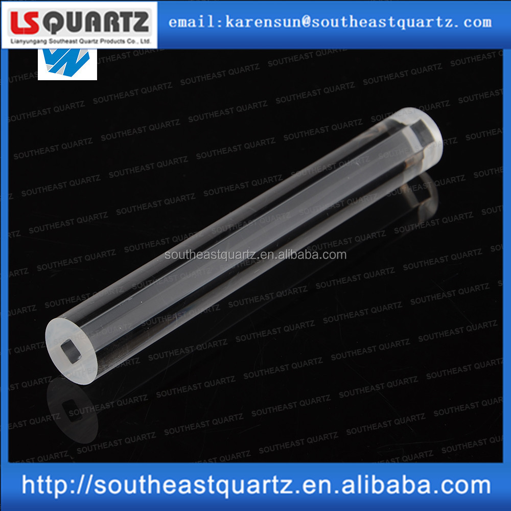 Heat resistant quartz tube for water level within square hole from southeast quartz