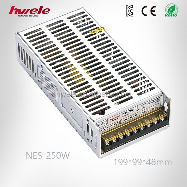 NES-250W 12volt 20amp efficient switching power supply AC/DC converter with CE ROHS CCC KC TUV certification 3 years warranty