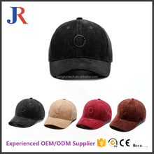 christy manufacturer fashion 6 panel custom embroidery suede baseball cap for wholesale