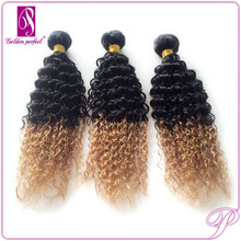 Sell Best Colored Two Tone Hair Weave Curly For Black Woman Per Bond Hair Extens