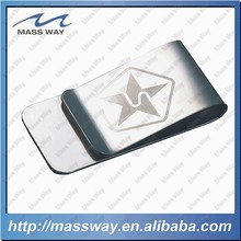 customized laser brass custom metal brushed stainless steel money clip