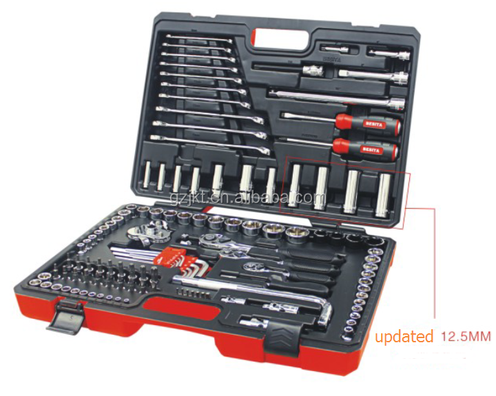 Life time maintenance mechanical hand 150 pcs metri tools sets