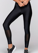 Fitness wear calf mesh 4 way stretch fitness custom yoga pants