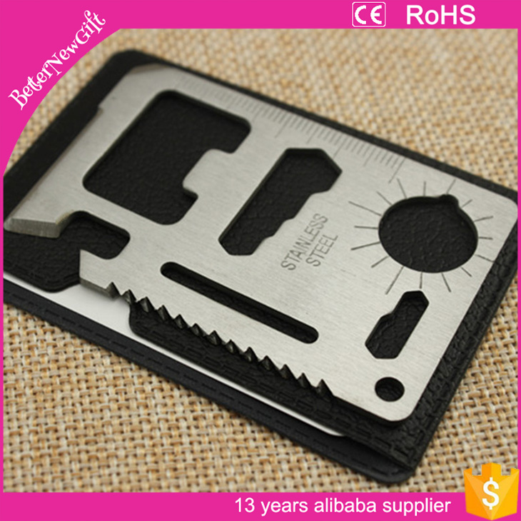 pocket credit card tool multi function survival tool