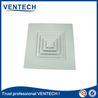 square ceiling diffuser / aluminum air diffuser hvac system with damper