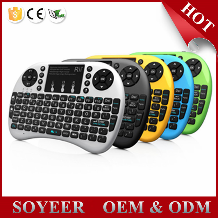 2.4G Mini Rii i8 Wireless Keyboard Remote Controller Air Mouse With Touchpad Keyboards 92 Keys for tv box tablet mini pc ps3