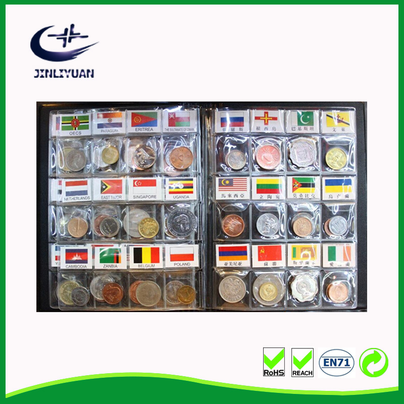 Hot Sale Plastic Binder stamps album Coin Collection Album