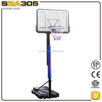 Jiangsu taizhou portable basketball goal with mechanical screw jack